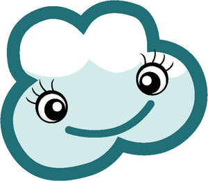 Adorable Feminine Kawaii Climate Weather Cartoon Emoji - Cloud #1 Vinyl Decal Sticker
