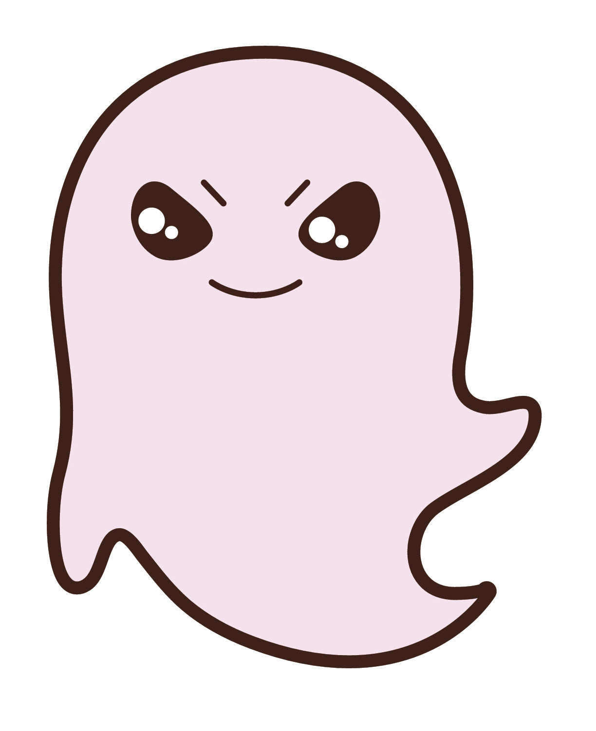 Adorable Floating Mischevious Ghost  (1) Vinyl Decal Sticker