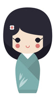 Adorable Geisha Girl in Kimono #3 Vinyl Decal Sticker