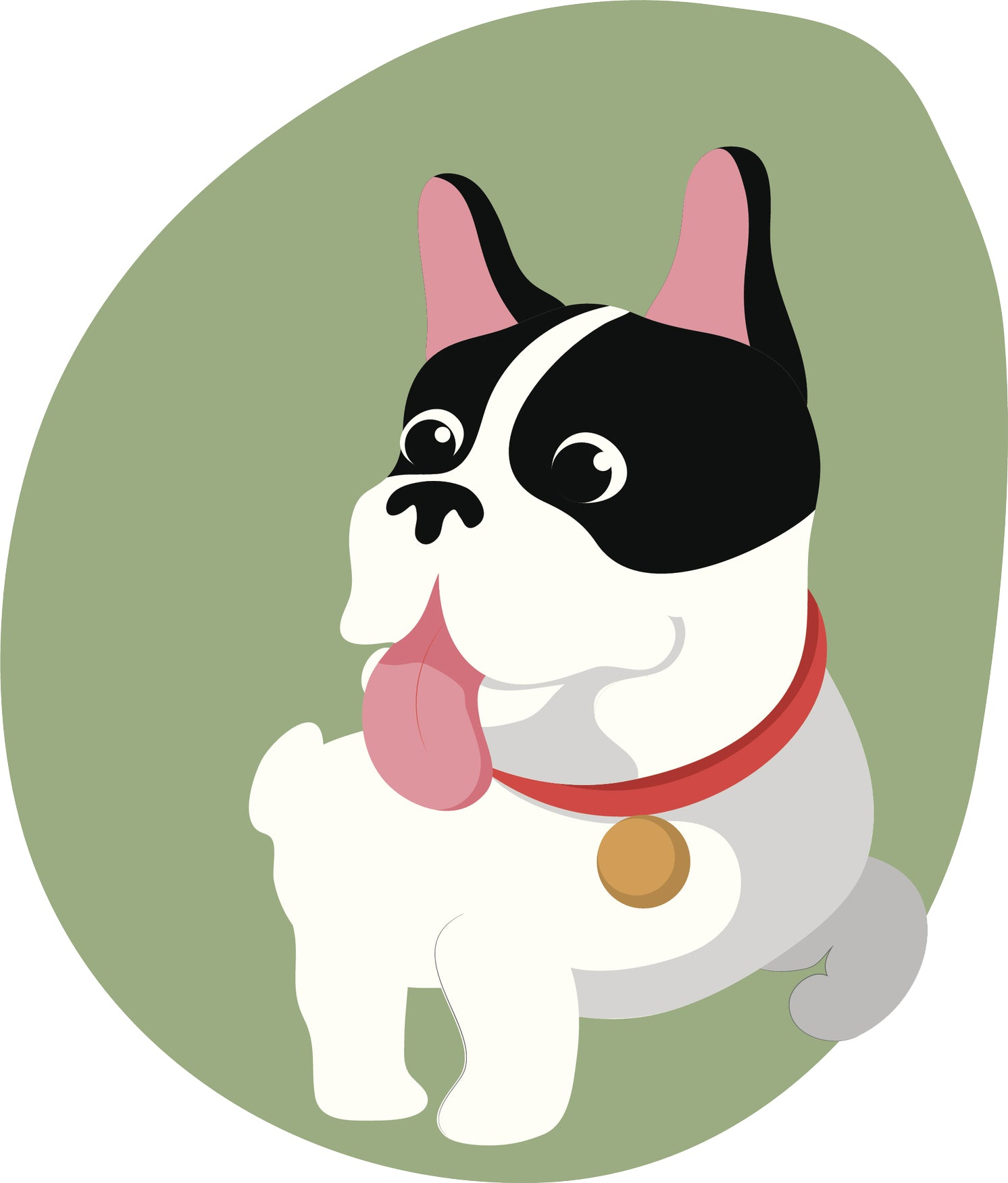 Adorable Happy Boston Terrier Frenchie Puppy Dog #2 Vinyl Decal Sticker