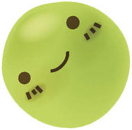 Adorable Happy Kitchen Vegetable Emoji - Pea Vinyl Decal Sticker