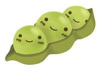 Adorable Happy Kitchen Vegetable Emoji - Peapod Vinyl Decal Sticker