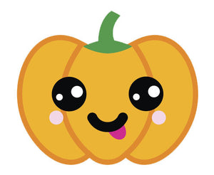 Adorable  Jack O'Lantern Pumpkin Emoji #11 Vinyl Decal Sticker