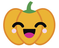 Adorable  Jack O'Lantern Pumpkin Emoji #3 Vinyl Decal Sticker