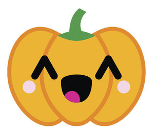 Adorable  Jack O'Lantern Pumpkin Emoji #7 Vinyl Decal Sticker