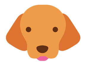 Adorable Puppy Dog Emoji Icon - Labrador Vinyl Decal Sticker