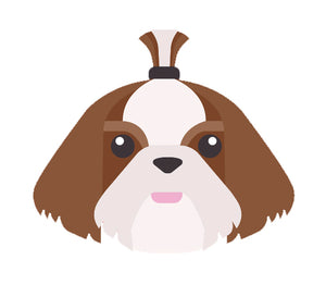 Adorable Puppy Dog Emoji Icon - Shit Tzu Vinyl Decal Sticker
