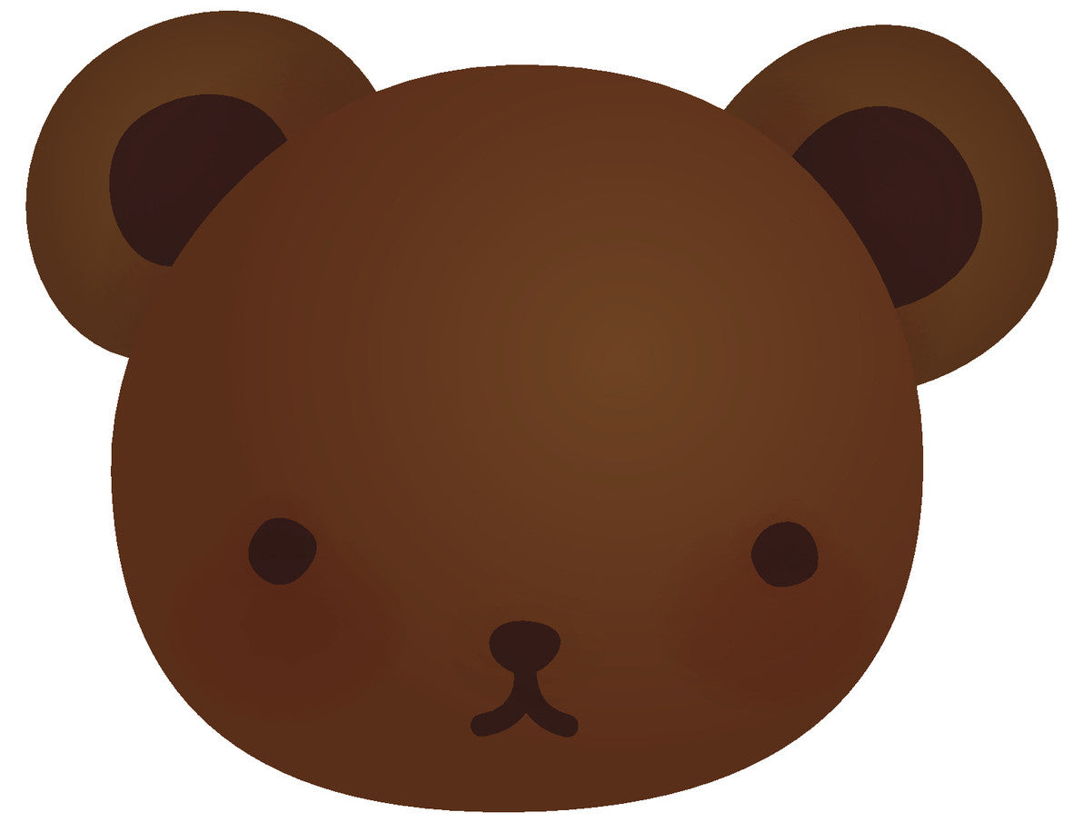 Adorable Teddy Bear Cub - Chocolate Brown #6 Vinyl Decal Sticker