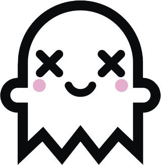Adorable White Ghost Emoji #13 Vinyl Decal Sticker
