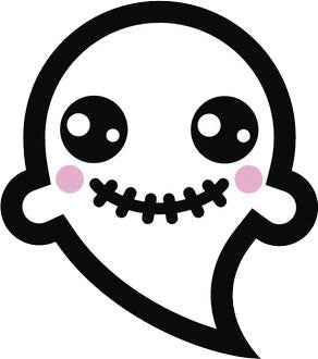 Adorable White Ghost Emoji #14 Vinyl Decal Sticker