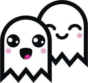 Adorable White Ghost Emoji #16 Vinyl Decal Sticker