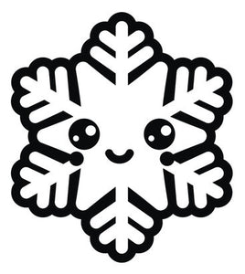 Black and White Christmas Holiday Snowflake #12 Vinyl Decal Sticker
