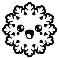 Black and White Christmas Holiday Snowflake #3 Vinyl Decal Sticker