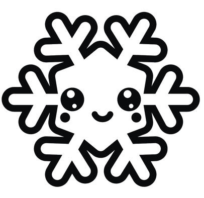 Black and White Christmas Holiday Snowflake #4 Vinyl Decal Sticker