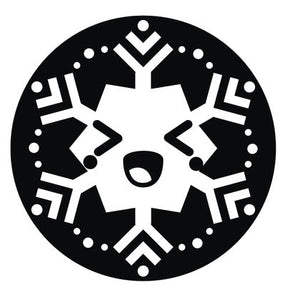 Black and White Christmas Holiday Snowflake #8 Vinyl Decal Sticker