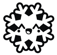 Black and White Christmas Holiday Snowflake #9 Vinyl Decal Sticker