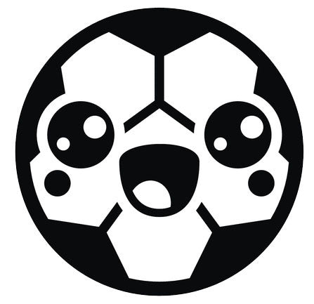 Black and White Soccer Ball Emoji #1 Vinyl Decal Sticker