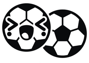 Black and White Soccer Ball Emoji #8 Vinyl Decal Sticker