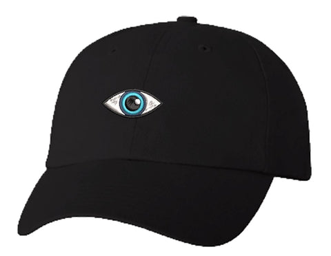 Unisex Adult Washed Dad Hat Pretty Aqua Blue Eye Cartoon Embroidery Sketch Design