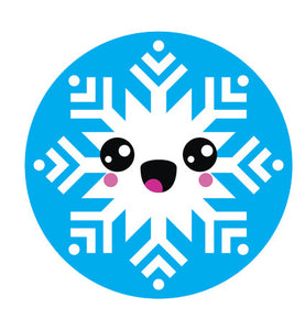 Blue Winter Snowflake Snow Emoji - Snowflake #10 Vinyl Decal Sticker