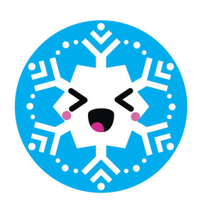 Blue Winter Snowflake Snow Emoji - Snowflake #12 Vinyl Decal Sticker