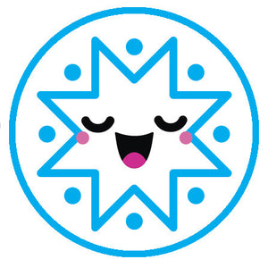 Blue Winter Snowflake Snow Emoji - Snowflake #3 Vinyl Decal Sticker