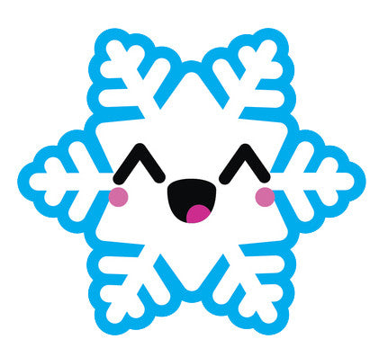 Blue Winter Snowflake Snow Emoji - Snowflake #5 Vinyl Decal Sticker