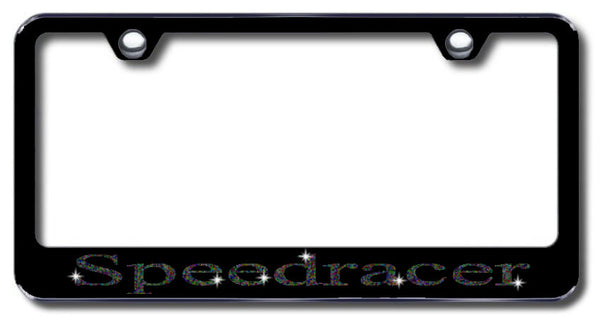 License Plate Frame with Swarovski Crystal Bling Bling Speedracer Aluminum