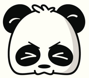 CUTE CARTOON PANDA HEAD ICON 19 BLACK WHITE Vinyl Decal Sticker