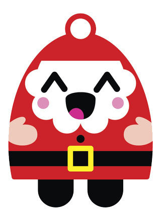 Christmas Holiday Santa Emoji #10 Vinyl Decal Sticker