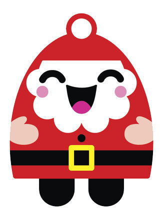 Christmas Holiday Santa Emoji #12 Vinyl Decal Sticker