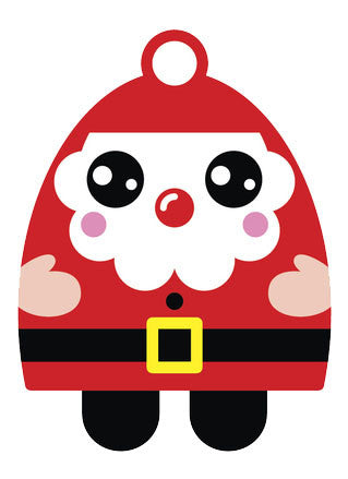Christmas Holiday Santa Emoji #4 Vinyl Decal Sticker