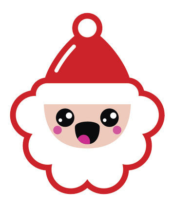 Christmas Holiday Santa Emoji #5 Vinyl Decal Sticker