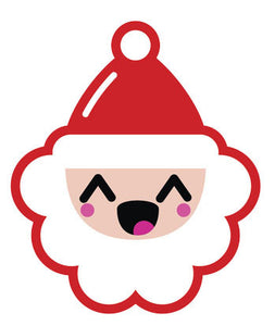 Christmas Holiday Santa Emoji #8 Vinyl Decal Sticker