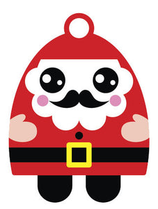 Christmas Holiday Santa Emoji #9 Vinyl Decal Sticker