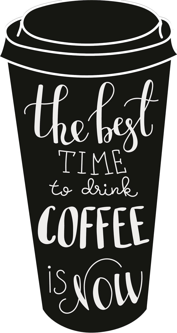 Coffee Lover Inspiration Quote Cartoon Togo Cup #2 Vinyl Sticker