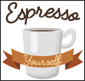 Coffee Lovers Cafe Quote Calligraphy Cartoon Icon Logo #12 Vinyl Sticker