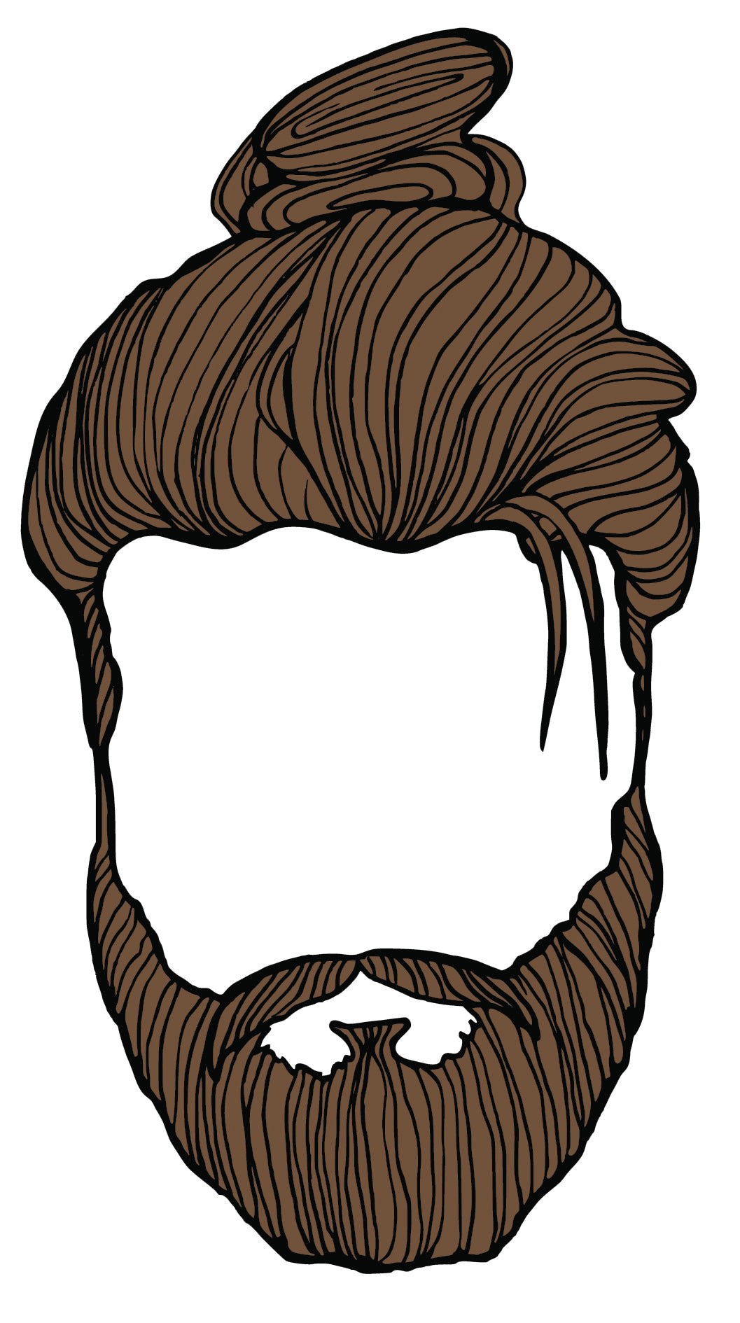 Colored Hipster Man Hair Style (2) Vinyl Sticker