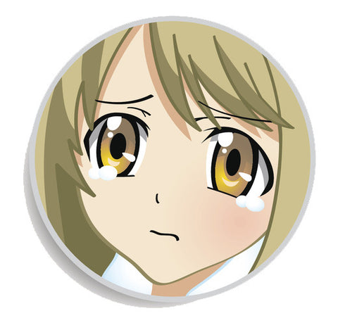 Colorful Anime Girl Face Emoji Icon Button (1) Vinyl Decal Sticker