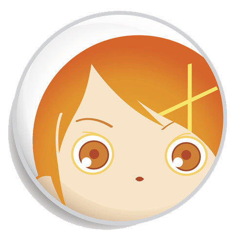 Colorful Anime Girl Face Emoji Icon Button (3) Vinyl Decal Sticker