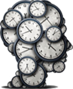 Cool Wall Clock Time Metaphor in Human Head Silhouette Vinyl Decal Sticker