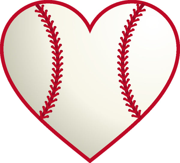 Cool I Love Heart Sport Cartoon Icon Emoji - Baseball #3 Vinyl Sticker
