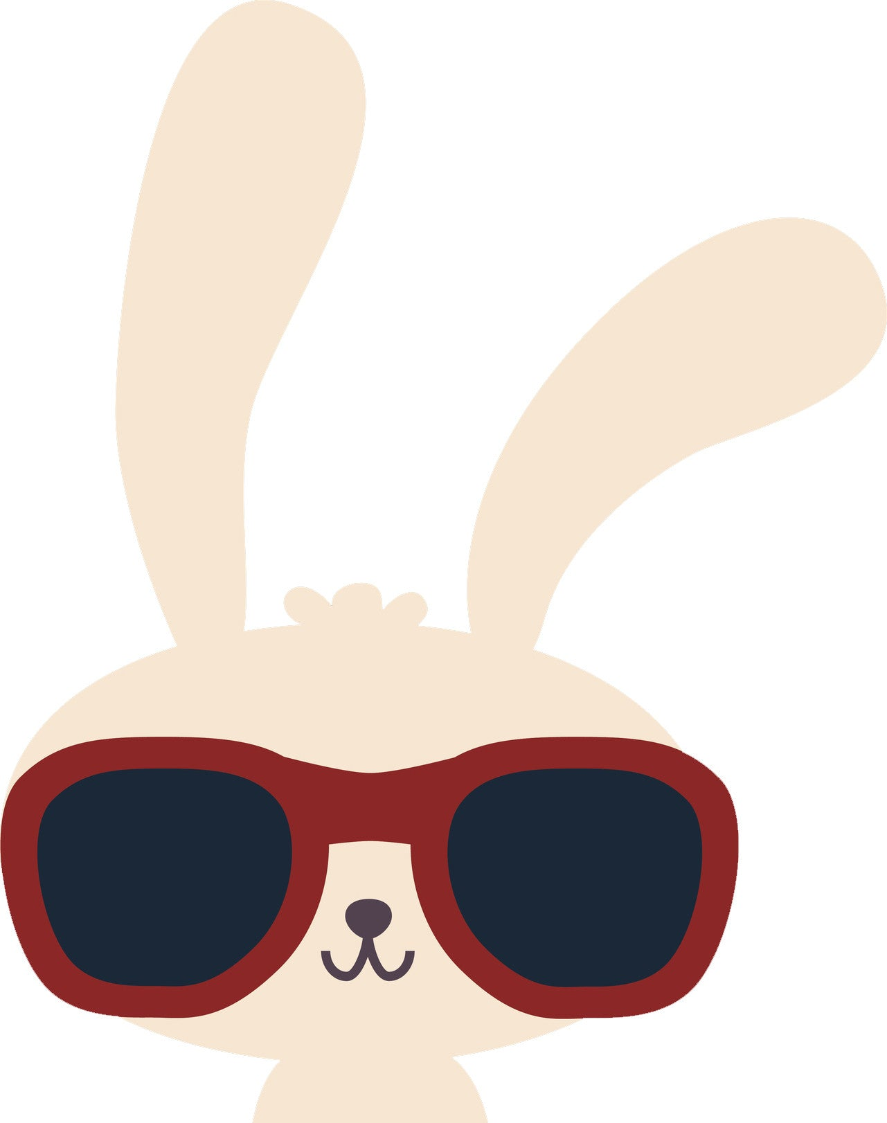 Cool Kawaii Bunny Rabbit with Sunglasses Cartoon Vinyl Decal Sticker