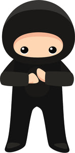 Cool Kid Ninja Cartoon Icon #2 Vinyl Sticker