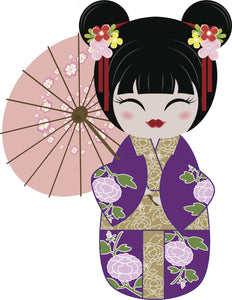 Cool Pretty Kawaii Japanese Geisha Cartoon #4 Vinyl Decal Sticker