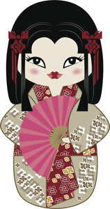 Cool Pretty Kawaii Japanese Geisha Cartoon #7 Vinyl Decal Sticker