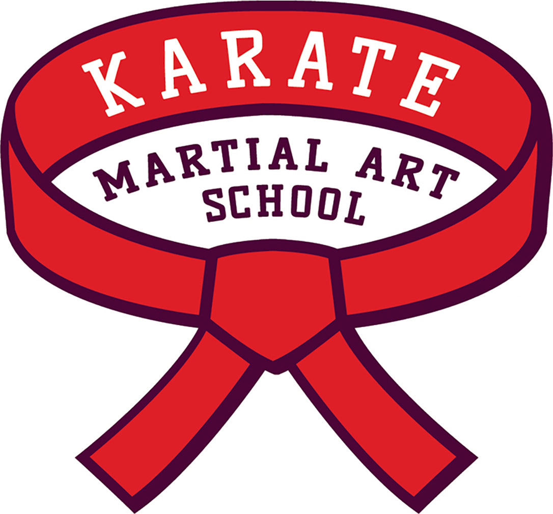Cool Simple Fighting Combat Sport Cartoon Logo Icon - Karate #2 Vinyl Sticker