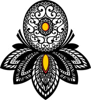 Cool Simple Gothic Mandala Petal Droplet Ornate Art Cartoon #8 Vinyl Sticker
