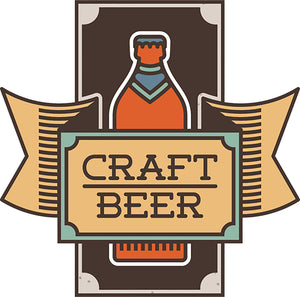Cool Simple Home Brew Beer Cartoon Logo Icon Art #8 Vinyl Sticker