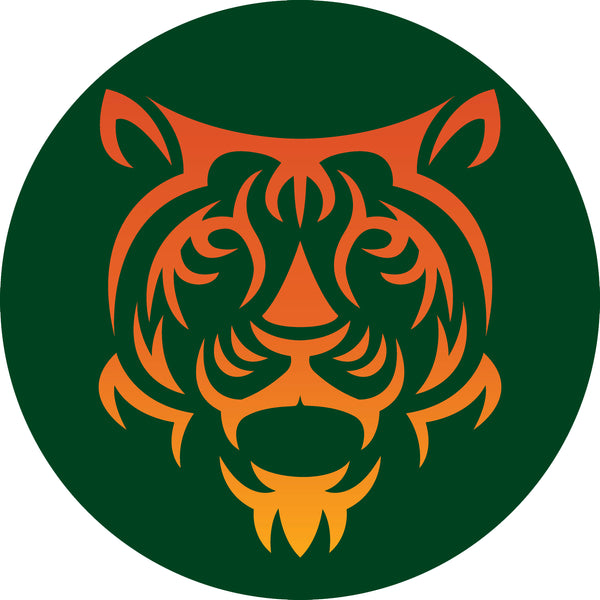 Cool Simple Mascot Cartoon Icon - Ombre Tiger Vinyl Sticker